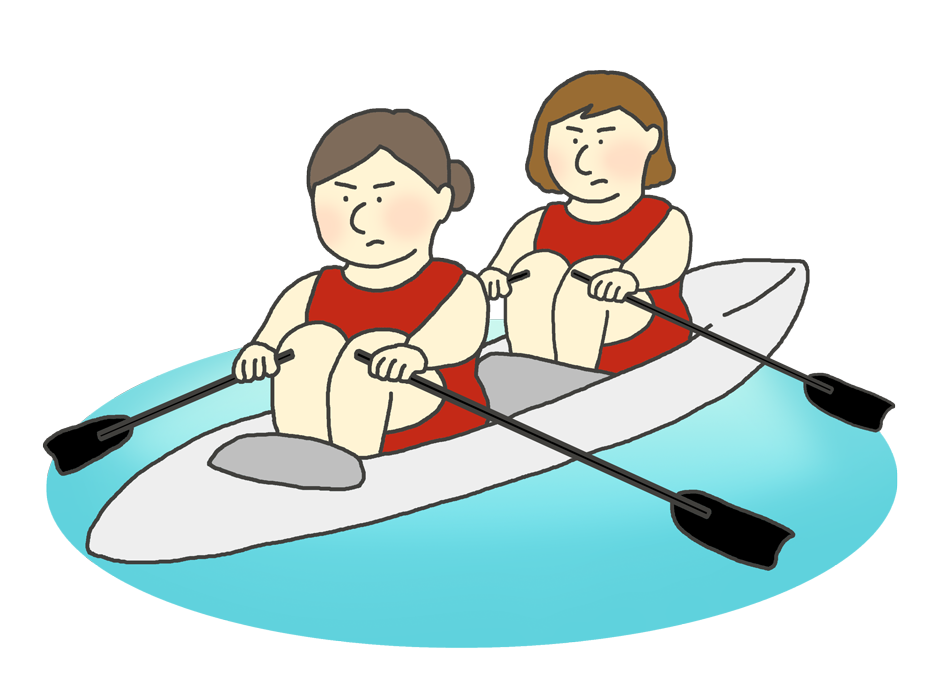 ボート競技のイラスト(女性)
