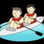 ボート競技のイラスト