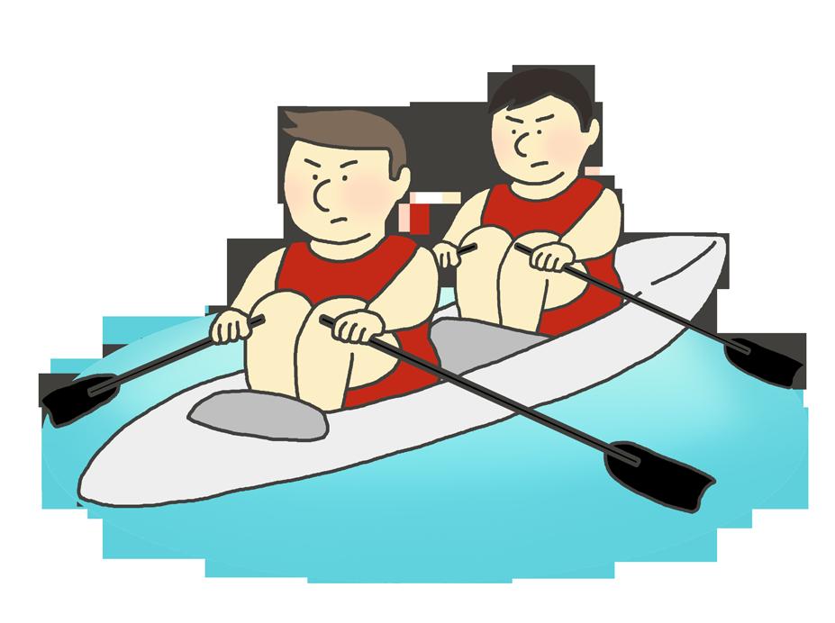 ボート競技のイラスト(男性)