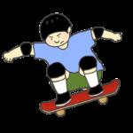 スケートボードのイラスト(男性)
