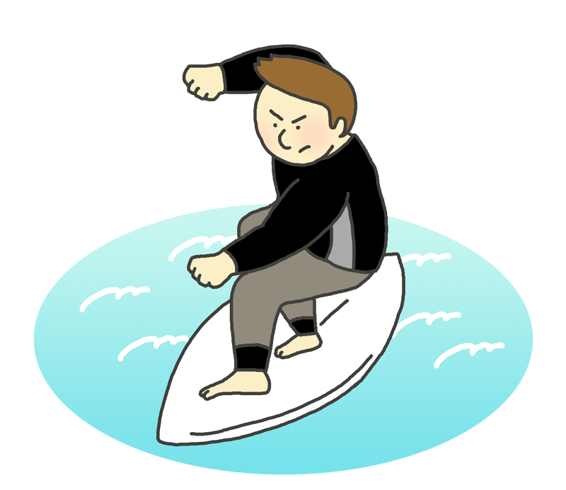 サーフィンのイラスト(男性選手)