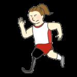 義足ランナー(女性)のイラスト