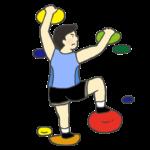 ボルダリングのイラスト(男性)