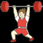 重量挙げ女子選手のイラスト