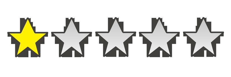 星の数1個のイラスト