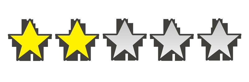 星の数2個のイラスト