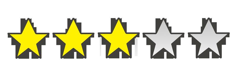 星の数3個のイラスト