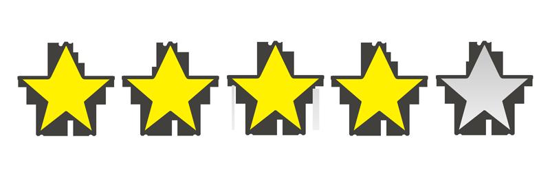 星の数4個のイラスト