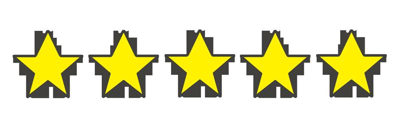星の数5個のイラスト