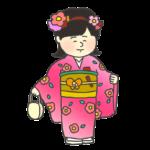 着物を着た女の子のイラスト