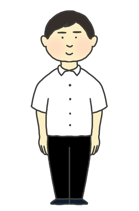 学生服(学ラン冬服)の男の子のイラスト