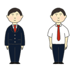 ブレザーの制服を着た男子学生のイラスト