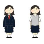 ブレザーの制服を着た女の子のイラスト