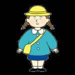 幼稚園児の女の子のイラスト