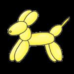 バルーンアートの犬のイラスト