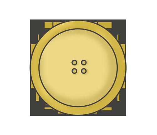 木目ボタンのイラスト