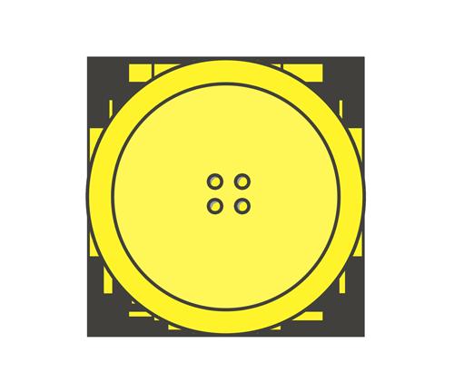 黄色いボタンのイラスト