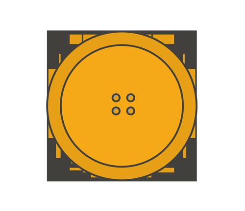 オレンジ色のボタンのイラスト