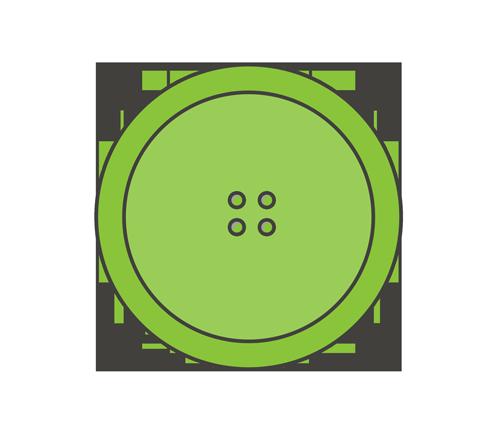 緑色のボタンのイラスト