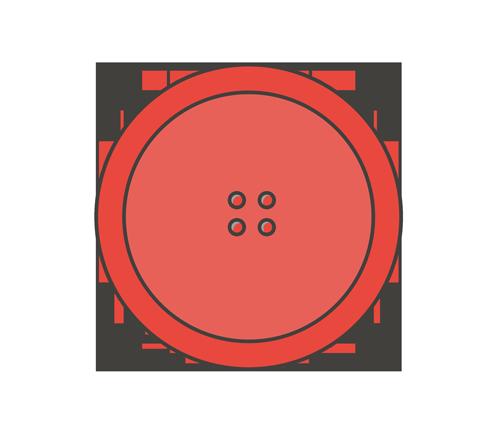 赤いボタンのイラスト