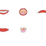 色々な表情の口のイラスト