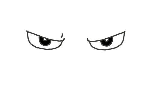 怒っている目のイラスト