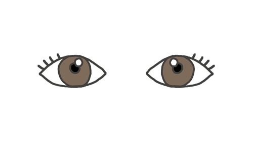 ふつうの状態の目のイラスト