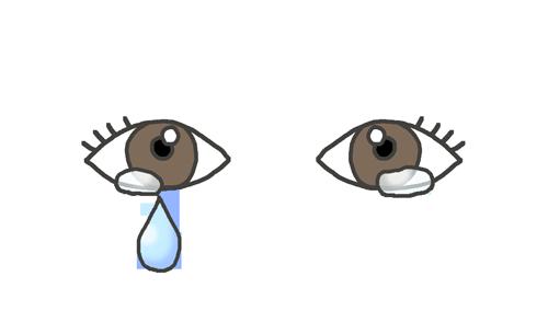 涙が出ている目のイラスト