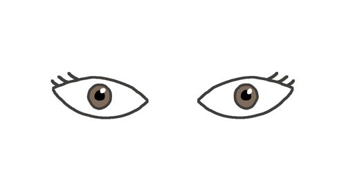 四白眼のイラスト
