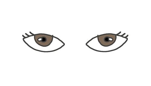 三白眼のイラスト