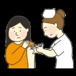 予防接種を受けている女性のイラスト