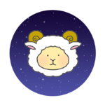 おひつじ座のイラスト(夜空背景)