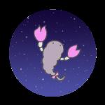 さそり座のイラスト(夜空)