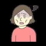 つかれた表情の女性のイラスト