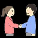 握手する人たちのイラスト