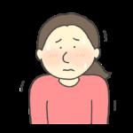 緊張する女性のイラスト