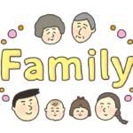 Familyの文字イラスト