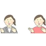 話す女性のイラスト