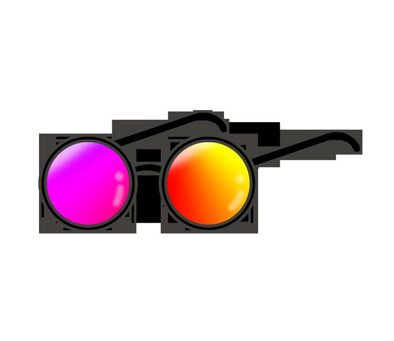 色眼鏡のイラスト