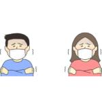 風邪をひいた人のイラスト