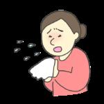 くしゃみをする女性のイラスト