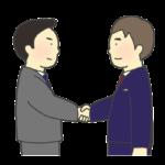 握手するビジネスマンのイラスト