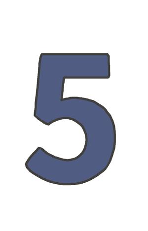 5の文字イラスト