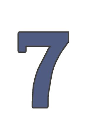 7の文字イラスト