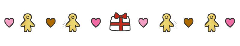バレンタインデーの飾り線のイラスト