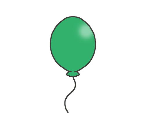 緑色の風船のイラスト
