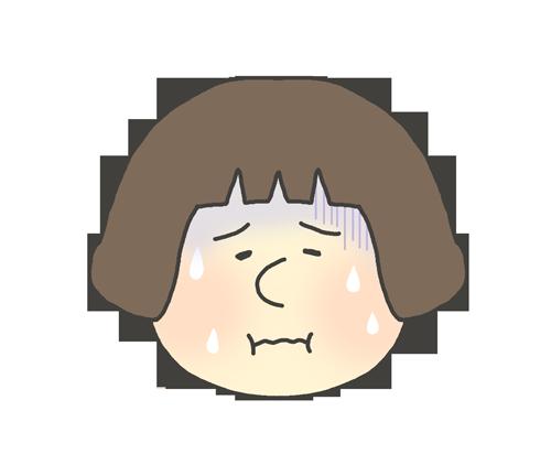 発熱している女の子のイラスト