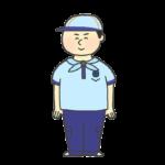 ビーバースカウトの制服を着た男の子のイラスト