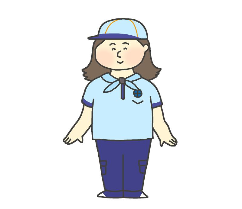 ビーバースカウトの制服を着た女の子のイラスト