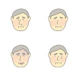 色々な健康状態のおじいさんのイラスト